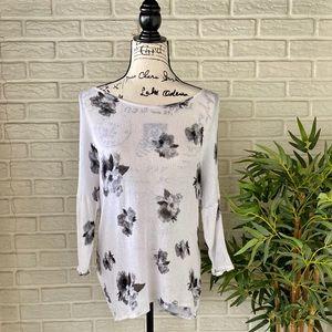H&M Floral White Blouse